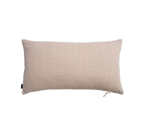 OYOY Coussin Herringbone Fluffy coton rose 40x70cm