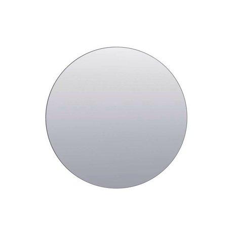 Housedoctor Murs miroir gris argenté ø80cm de verre