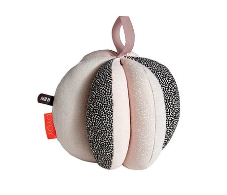 OYOY Ball puzzle pink black white cotton Ø13cm