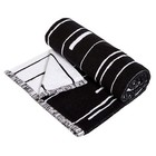 OYOY Towel Puun large black and white cotton 70x140cm