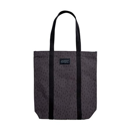 OYOY Mami bag small gray black cotton 40x60cm
