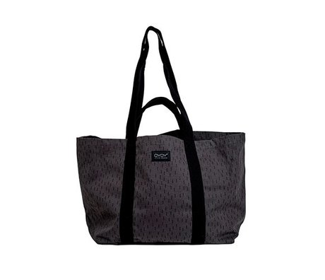OYOY Mami bag big black gray cotton 28x46x38cm