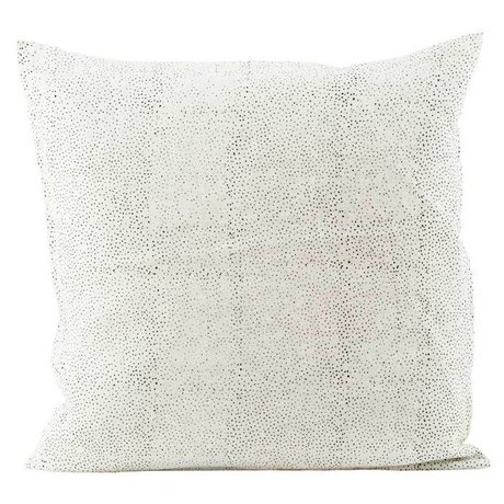 Housedoctor Cushion cover Spots white linen 50x50cm