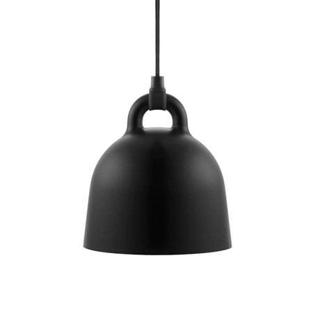 Normann Copenhagen Hanging lamp Bell black aluminum XS Ø22x23cm