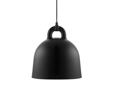 Normann Copenhagen Bell-Pendelleuchte aus schwarzem Aluminium S Ø35x37cm
