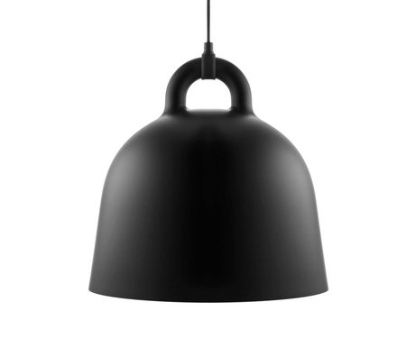 Normann Copenhagen Bell-Pendelleuchte aus schwarzem Aluminium M Ø42x44cm