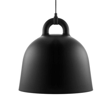 Normann Copenhagen Cloche pendentif lumière aluminium noir M Ø42x44cm