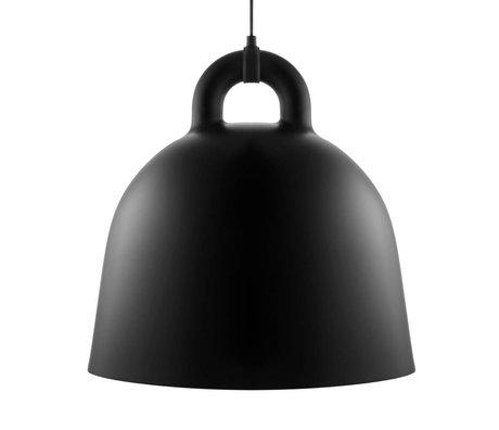 Normann Copenhagen Cloche pendentif lumière noire aluminium L Ø55x57cm