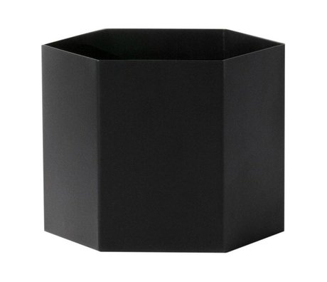 Ferm Living Hexagon pot noir Ø18x14cm Extra Large