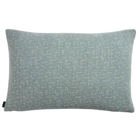 OYOY Coussin Tenji poussiéreux bleu blanc laine 40x60cm