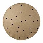 Ferm Living Vloerkleed Dots rond naturel zwart ø100cm