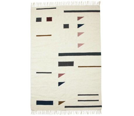 Ferm Living Rug Colour triangles multicolored textile 140x200cm
