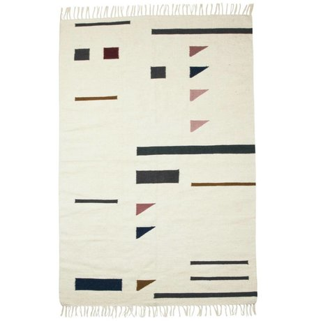 Ferm Living Couleur Tapis triangles multicolores textile 140x200cm