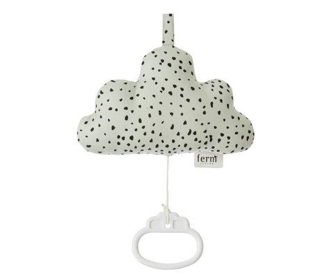 Ferm Living Mobile music cotton cloud green 16x10cm