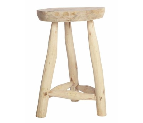 Housedoctor Stool wood blank h48cm Ø31cm