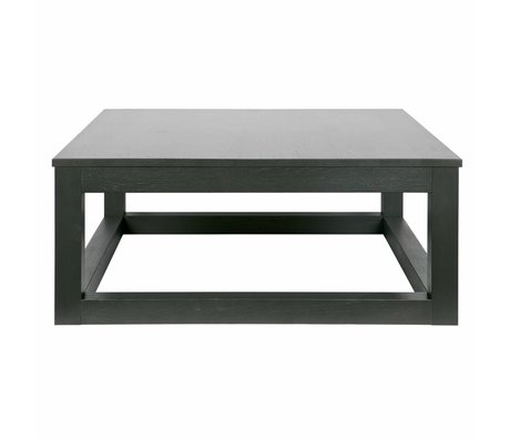 LEF collections Salontafel Wout zwart eiken hout 85x85x36cm