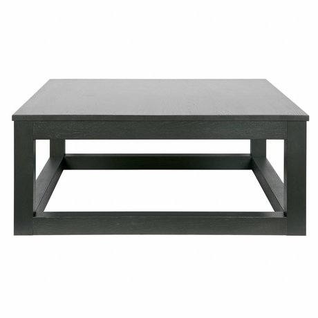 LEF collections Wout black oak coffee table 36x85x85cm