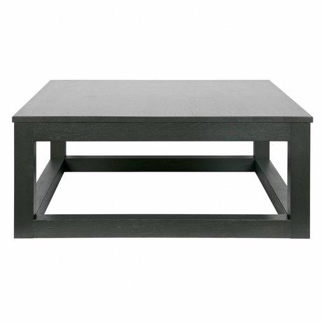 LEF collections Wout chêne noir table basse 36x85x85cm