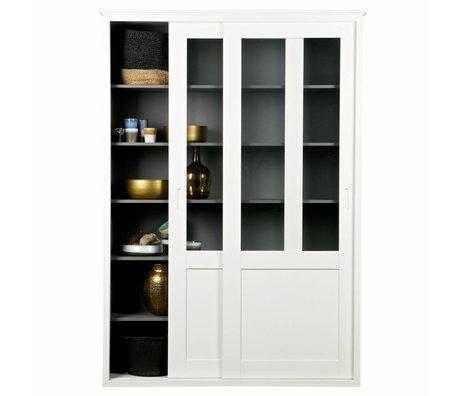 LEF collections Sliding door wardrobe Vince white pine wood 147x46x208cm