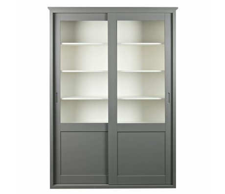 LEF collections Sliding door closet Vince gray pine wood 147x46x208cm