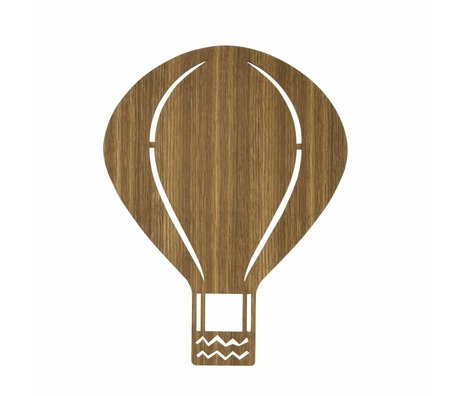 Ferm Living Wall light Hot-air balloon brown wood 26,5x34,55cm