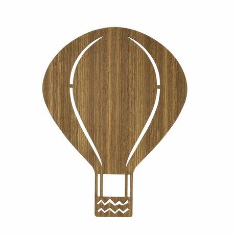 Ferm Living Wandleuchte Heißluftballon braunes Holz 26,5x34,55cm