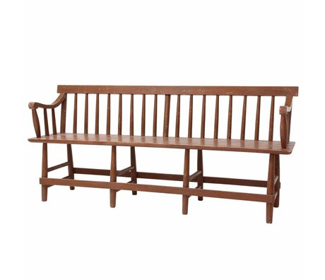 Storebror Café brown wood bench 180x50x81cm