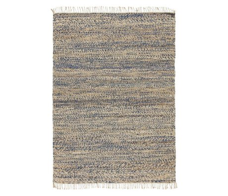 LEF collections Rug Vista blue cotton in 4 sizes