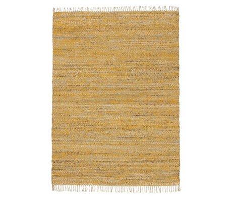 LEF collections Tapis Vista coton jaune en 4 tailles