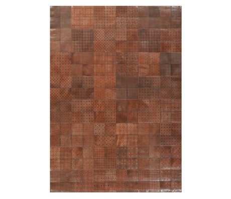 LEF collections Rug Olympus brown leather 240x340cm