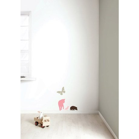 KEK Amsterdam Wall Sticker Set 'Miniset 2 GIRLS' pink / braun Vinyl