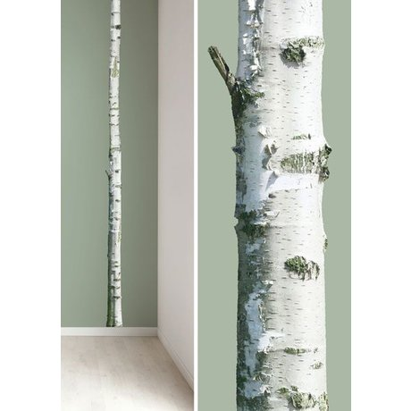 "KEK Amsterdam Wall Decal trunk 'Home tree 2 ""brown / green vinyl 8x260cm"