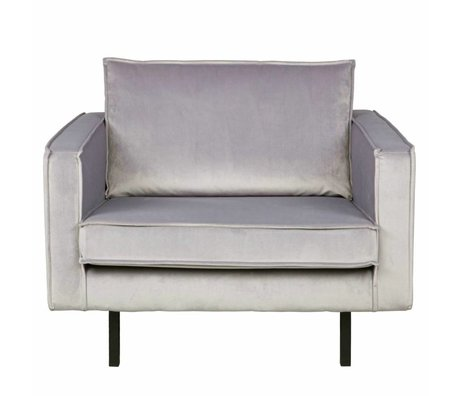 BePureHome Rodeo Armchair light gray velvet velvet 105x86x85cm
