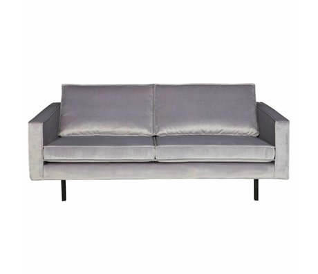 BePureHome Banque Rodeo velours velours gris clair 2,5-siège 190x86x85cm