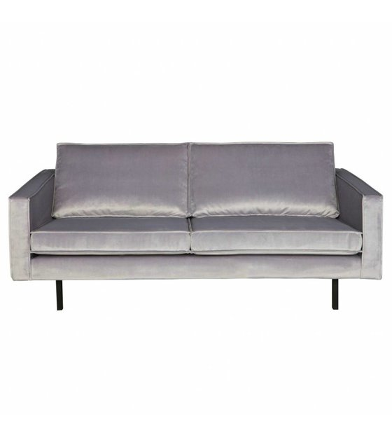 Groovy Bepurehome Sofa Rodeo 2 5 Seater Light Gray Velvet Velvet 190X86X85Cm Lamtechconsult Wood Chair Design Ideas Lamtechconsultcom