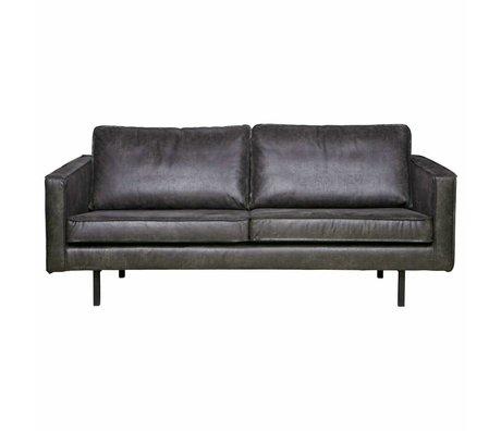 BePureHome Bank Rodeo 2,5-Sitzer schwarz Leder 190x86x85cm
