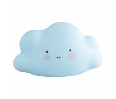 A Little Lovely Company nuage Lumière mini-16,5x9,5x8,5cm bleu