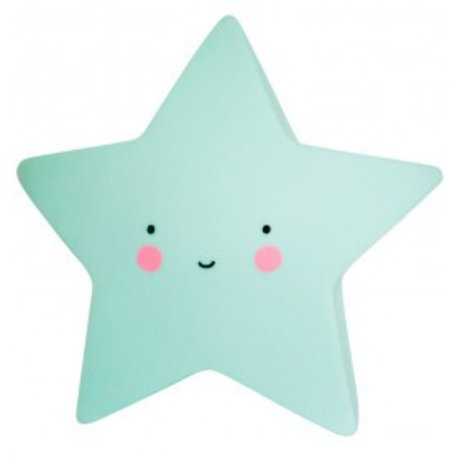 A Little Lovely Company Table Lamp Star mint 14,5x5,5x13,5cm