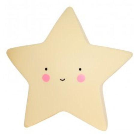 A Little Lovely Company Table Lamp Star yellow 14,5x5,5x13,5cm