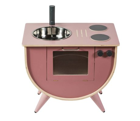 Sebra Play Kitchen rose wood 58x38x50cm