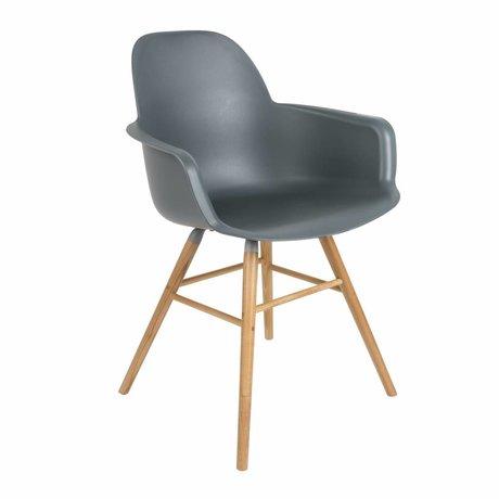 Zuiver Salle à manger Chaise Albert Kuip plastique bois de 62x56x61cm gris foncé