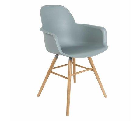 Zuiver Dining chair Albert Kuip plastic timber light gray 62x56x61cm