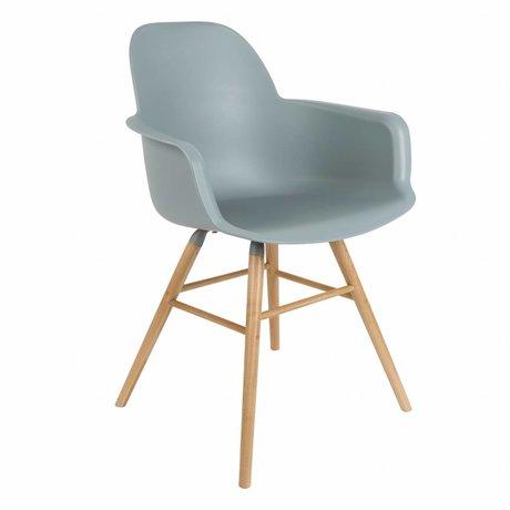 Zuiver Salle à manger Chaise Albert Kuip en plastique bois gris clair 62x56x61cm