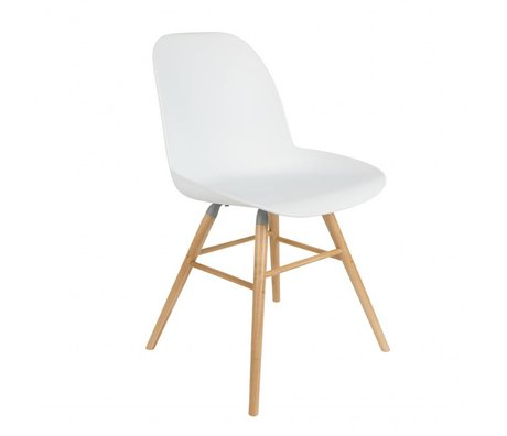 Zuiver Salle à manger Chaise Albert Kuip plastique blanc bois 51x49x60cm