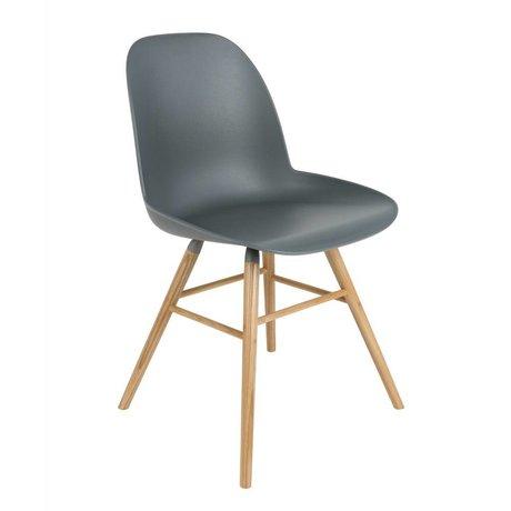 Zuiver Dining chair Albert Kuip plastic timber dark gray 51x49x60cm