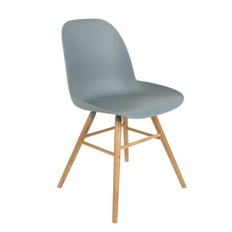 Zuiver Dining chair Albert Kuip plastic timber light gray 51x49x60cm