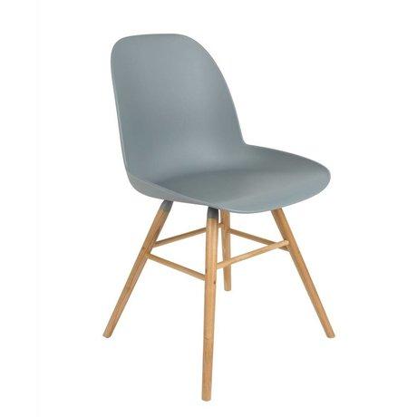 Zuiver Salle à manger Chaise Albert Kuip en plastique bois gris clair 51x49x60cm