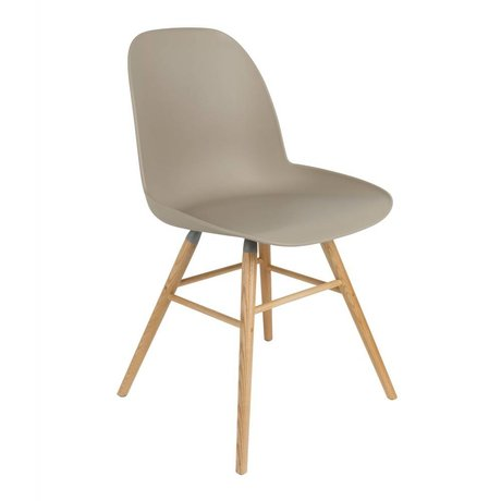 Zuiver Dining chair Albert Kuip plastic timber brown 51x49x60cm
