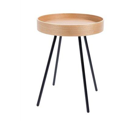 Zuiver Table d'appoint marbre blanc pierre blanche petite Ø32x45cm gris - Copy