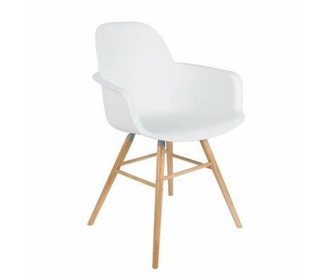 Zuiver Esszimmerstuhl Albert Kuip weißen Kunststoff-Holz 62x56x61cm